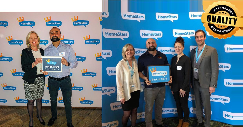In Awe Roofing Homestars Award 2018 & 2019