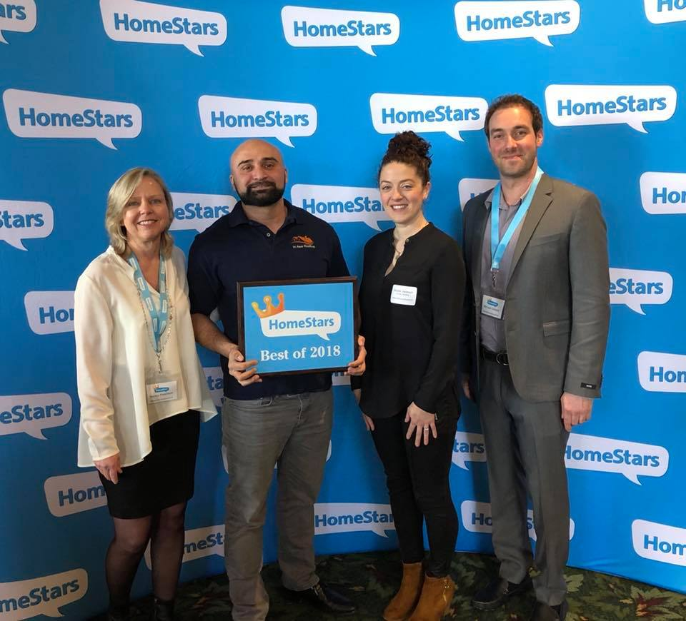 In Awe Roofing Homestars Award